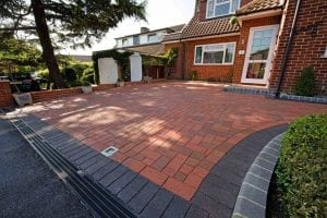 Clay Pavers on Driveway from Diamond Services
