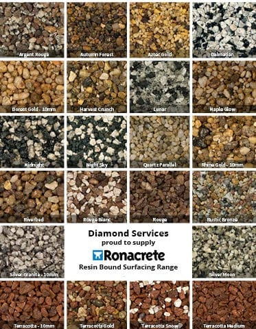 ronacrete resin driveway range from diamond services